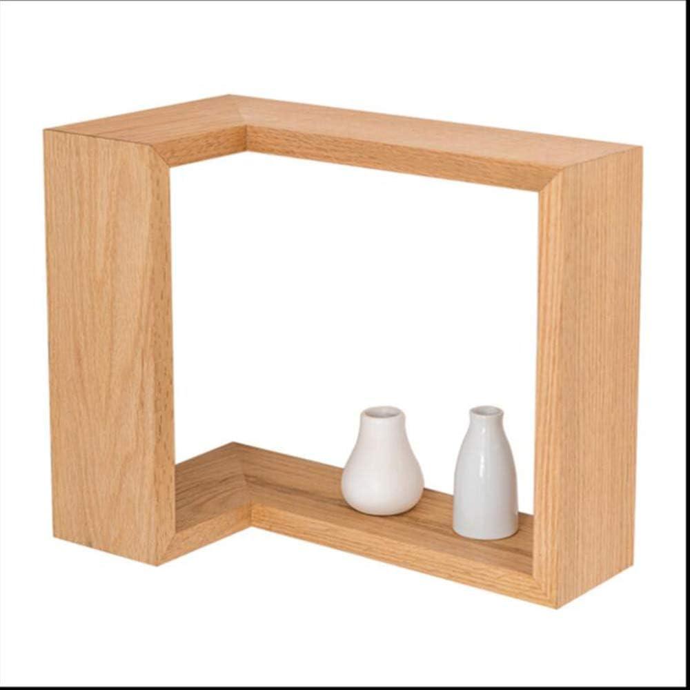 BS 本棚、純木の本棚クリエイティブコーナー本棚棚表示壁寝室の装飾リビングルームの寝室の壁掛け ディスプレイスタンド