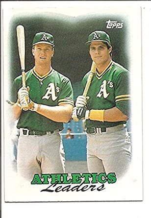 Mark Mcgwire Jose Canseco Oakland Athletics 1988 Topps 1987