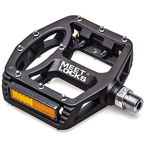 MEETLOCKS Bike Pedal, CNC Machined Magnesium Alloy Body Cr-Mo 9/16