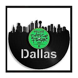 Dallas Vinyl Wall Art City Skyline Travel Gift Framed - VinylShopUS