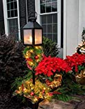 "HOMESEASONS 10"" LED Pre-Lit Red Artificial"