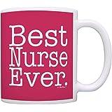 Nurse Gifts Best Nurse Ever Nurse School Gifts Registered Nurse Gifts Nursing Assistant Gifts NICU Nurse Gift Coffee Mug Tea Cup Heliconia