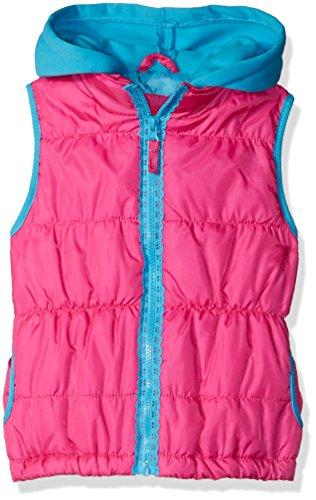 Pink Platinum Little Girls' Lace Zipper Tape Vest, Bright Pink, 5/6