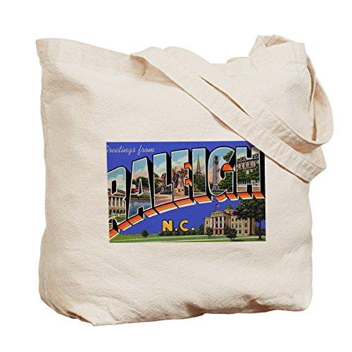 CafePress–Raleigh Carolina del Norte–de felicitación gamuza de bolsa de lona bolsa, bolsa de la compra