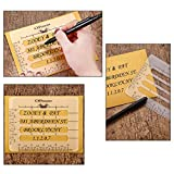OPount 4Pcs 4 Style Envelope Addressing Guide