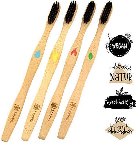 Madhu - Set de 4 cepillos de dientes de bambú ♻ Inconfundibles ...