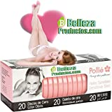Pollie caja 20 discos cera pieles sensible