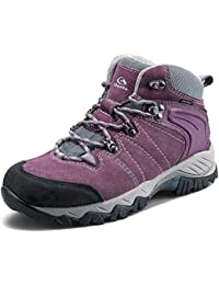 Women's Hiking Boots Waterproof Suede Leather Lightweight Hiking Shoes Outdoor Backpacking Trekking Trail