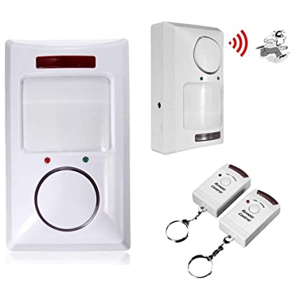 Radsport Fahrradzubehör PIR Motion Sensor Alarm Wireless Home Garage Caravan with 2 Remote Controls MT