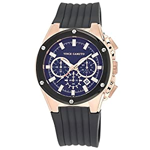 Vince Camuto Men's VC/1063DGRG The Dyver Chronograph Grey Silicone Strap Watch