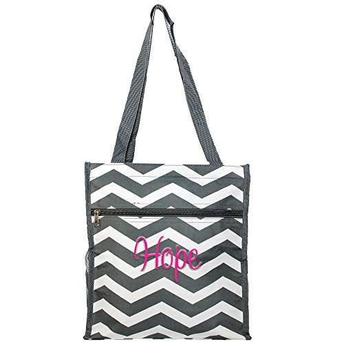 Personalized Nurse | Medical | Physician Carry All Tote Bags (Grey Chevron) by LD Bags