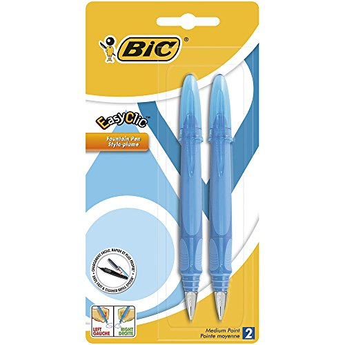 BiC EasyClic Assorted Colour Fountain Pens (Pack of 2)