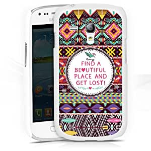 Design Case Cover for Find A Beautiful Place And Get Lost Galaxy S3 mini I8190 - HardCase white - Samsung