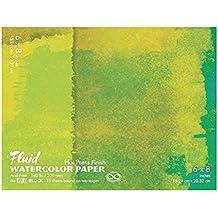 Global Art Fluid Watercolor Hot Press Block,White,6X8