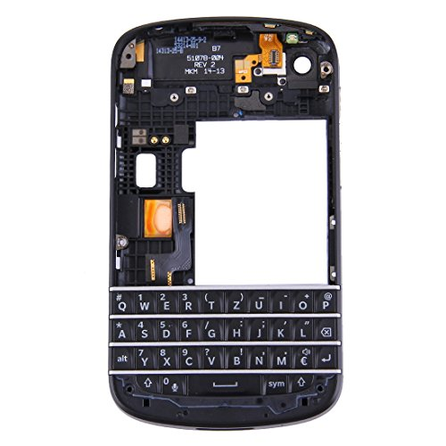 for BlackBerry Q10 (Keyboard + Middle Frame Bezel + Back Plate Housing Camera Lens Panel) Full Assembly Housing Cover ()