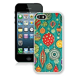 New Fashion Design Hard Protect Skin Case Cover Shell for Mobile Cell Phone Apple Iphone 5/ 5S-Merry Christmas,Christmas Decorations Pattern iPhone 5 5S Case 1 White