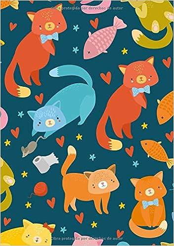 Libretas de Puntos: Cuadernos con Puntos, Cuaderno A5 Puntos, Cuaderno Dot, Cuaderno Dot Grid - Cuaderno Gato #3 - Tamaño: A5 14.8 x 21 cm - 110 ... pequeña ...