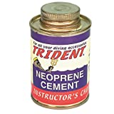 Trident Black Neoprene Cement 4 Ounce Can of Black