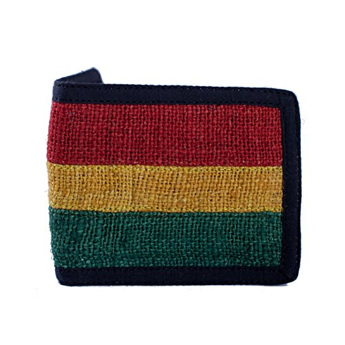(Roaring Rasta Stripe Hemp Wallet-Rasta-One Size)