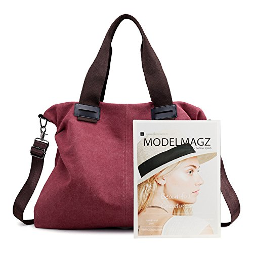 Nameblue Bag Hobo Bags Canvas Women Bucket Shouder Canvas Body Handbag Bag Casual Girl's Cross brown Bag Vintage 3303 Messenger Bag zCWOnz7