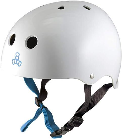 Triple 8 Water Halo White Rubber CE Helmet