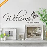 DIY Welcome to Our Home Removable Art Vinyl Decal Wall Stickers Mural Home Decor