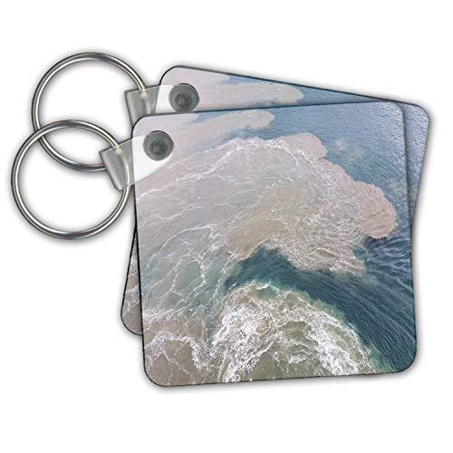 (lens Art by Florene - Water Art - Image of Sandbar At Captiva Island Florida - Key Chains - set of 2 Key Chains (kc_308274_1))