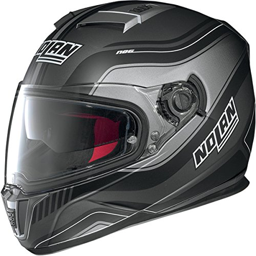 Nolan N-86 Deep Non N-Com Helmet , Distinct Name: Flat Lava/Black, Gender: Mens/Unisex, Helmet Category: Street, Helmet Type: Full-face Helmets, Primary Color: Black, Size: XL N8R5273310196