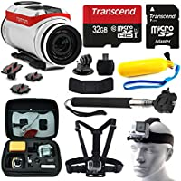 TomTom Bandit 4K HD Action Camera with 10 Piece Accessories Bundle includes 32GB Card + Floating Handle + Card Reader + Selfie Stick + Chest/Head Strap + Travel Case + More!