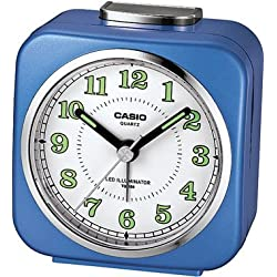 Casio Tq-158-2 Table Top Travel Alarm Clock Blue