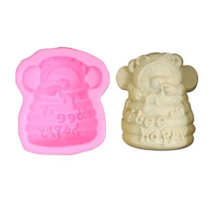 wodejiayuan oso bebé molde molde para hornear moldes de pastel fondant molde para decoración de repostería