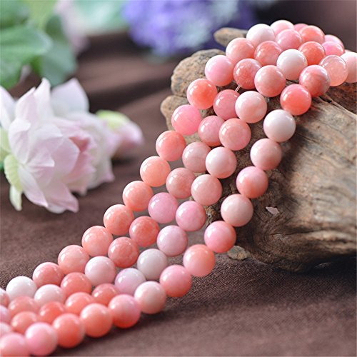 Grade A Natural Multi Tones Pink Jade Beads 6mm 8mm 10mm 12mm Smooth Polished Round 15 Inch Strand JA33 Wholesale Gemstone Beads