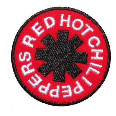 RED HOT CHILI PEPPERS Logo Iron On Sew On Embroidered Patch 2.7