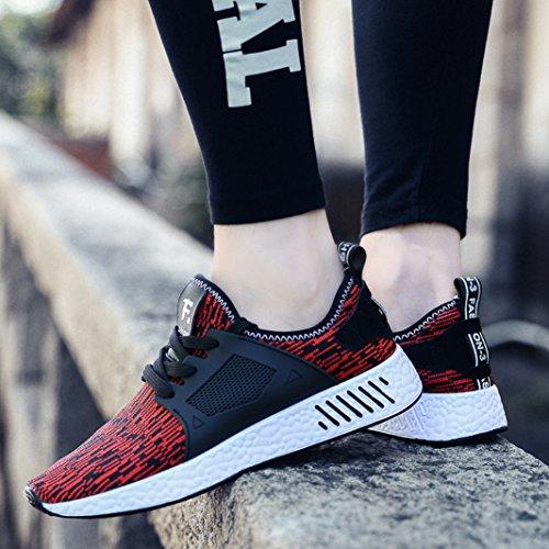 Athlétique Sneakers De Sitaile Homme Rouge Chaussures Course Outdoor Mode Garçon Baskets Gym Fitness Sports x7fHwPq7nS