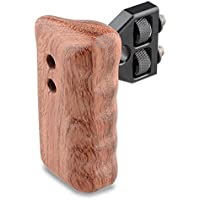 CAMVATE DSLR Wooden Handle for right Grip Mount Support for DV Video Cage Rig(Right Hand)