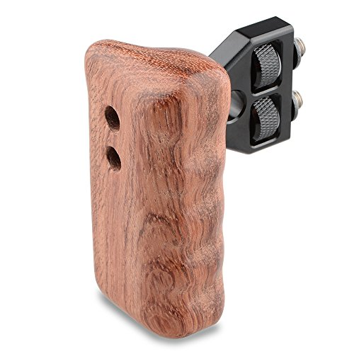CAMVATE DSLR Wooden Handle for right Grip Mount Support for DV Video Cage Rig(Right Hand) by CAMVATE