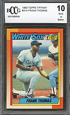 Amazoncom 1990 Topps Tiffany 414 Frank Thomas Chicago