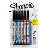 Sharpie Pen, Fine Point, 6-Pack, Assorted Colors (1924215)