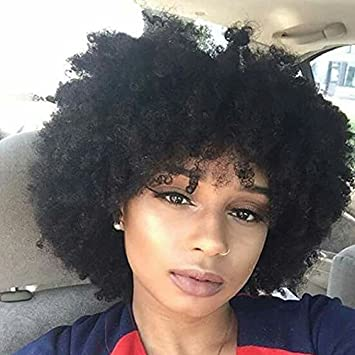 Wicca Short Afro Kinky Curly Human Hair Lace