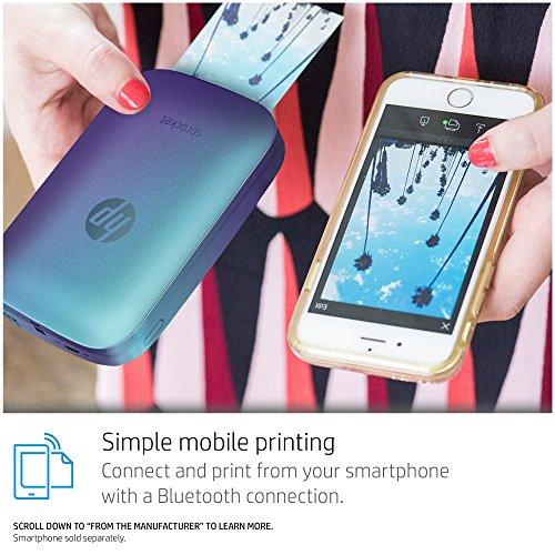 HP Sprocket Portable Photo Printer, Print Social Media Photos on 2x3