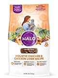 Halo Grain Free Natural Dry Cat Food, Senior Chicken & Chicken Liver Recipe, 3-Pound Bag Larger Image