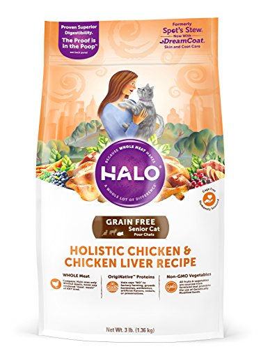 Halo Grain Free Natural Dry Cat Food, Senior Chicken & Chick