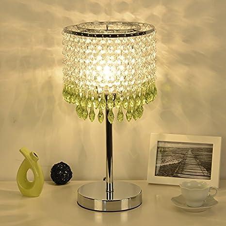 FGHOME Elegante lámpara de mesa de cristal de la mesa de la ...