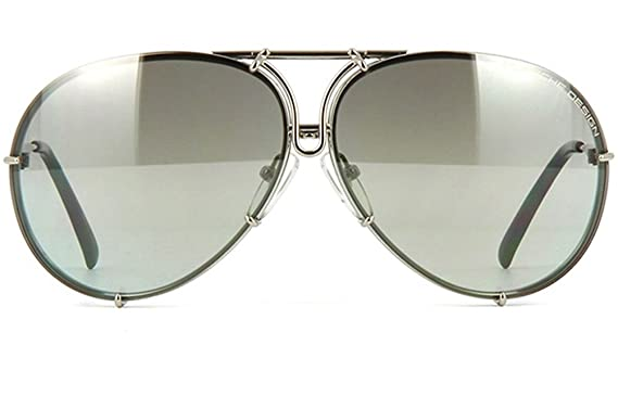 7851bffe5d2f Amazon.com  Porsche P8478 B Sunglasses 69 mm Silver  Clothing