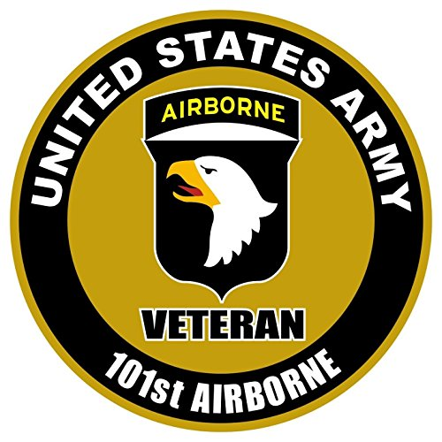 1 Pc Heart-stirring Unique United States Army Veteran 101st Airborne US Sticker Sign Window Outdoor Indoor Wall Hoverboard Automotive Decor Bike Trucks Decal Cars Vinyl Patches Decals Size 4