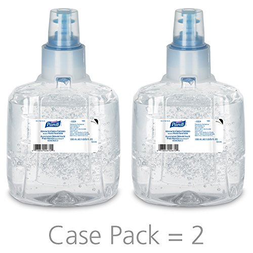 PURELL Advanced Green Certified Hand Sanitizer Gel, 1200 mL Sanitizer Refill for PURELL LTX Touch-Free Dispenser (Pack of 2)- 1903-02