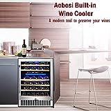 【Upgraded】Aobosi 24 Inch Dual Zone Wine