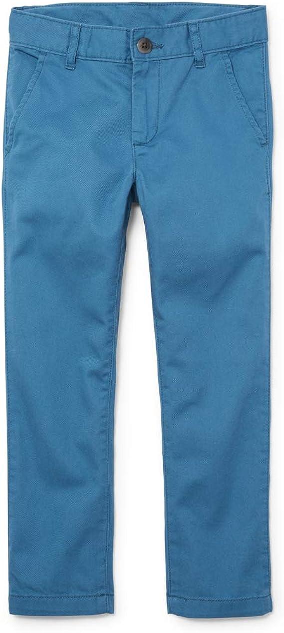 slim Boys Size 12s Uniform Pants Navy Blue Children/'s Place Adjustable Waist