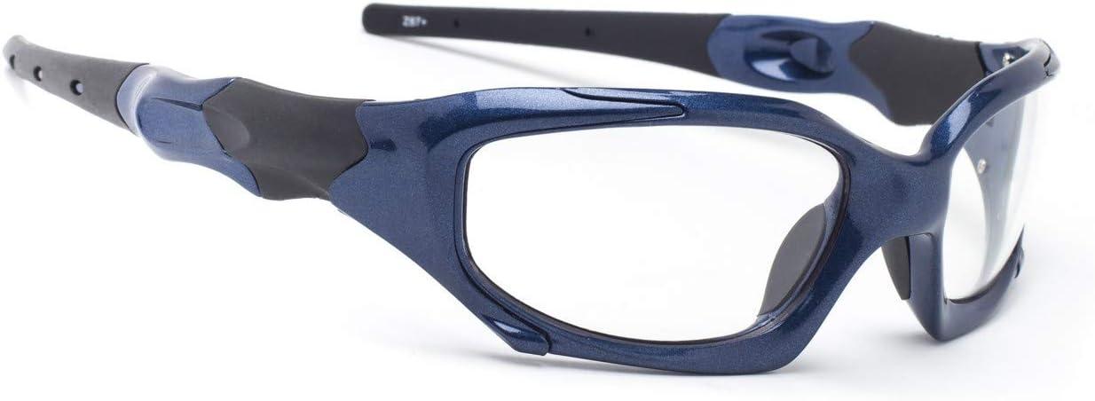 Gafas de radiación envolventes para cabezas de estilo mediano y grande (azul)