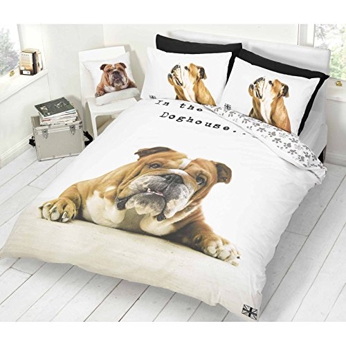 Barry Bulldog Double Duvet Cover & Pillowcase Set - Barry Pillowcase